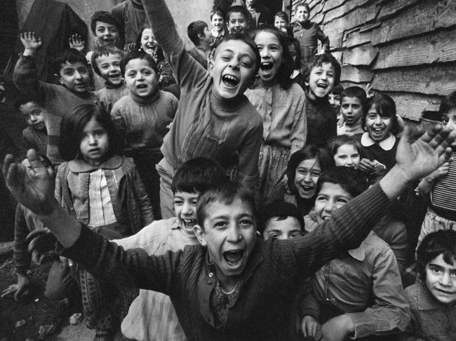Ara Güler (Turkish, 1928-2018) 'Children playing in Tophane, Istanbul' 1986
