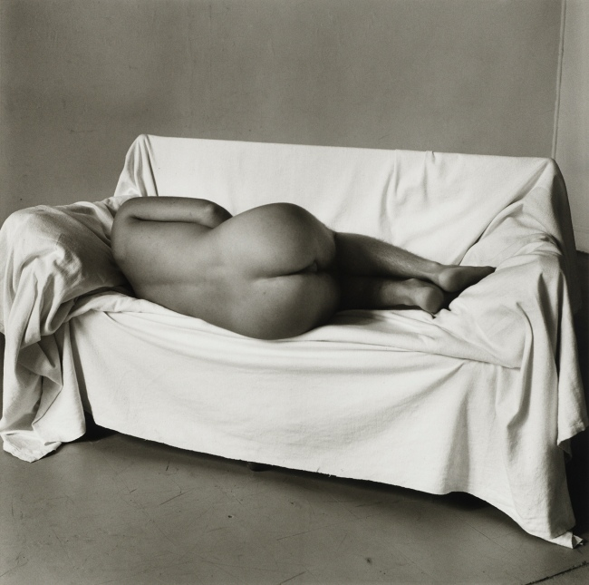 Peter Hujar (American, 1934-1987) 'Reclining Nude on Couch' 1978