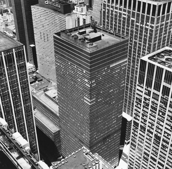 Peter Hujar (American, 1934-1987) 'From Rockefeller Center: The Equitable Building' 1976
