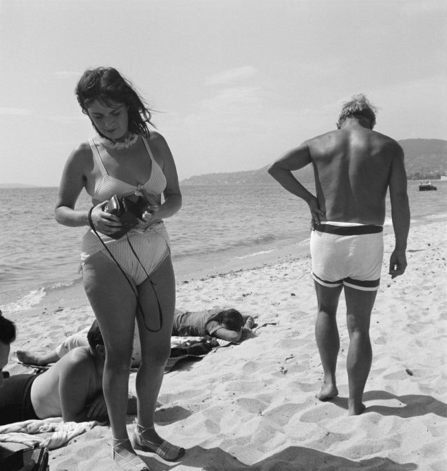 Eileen Agar (1899-1991) 'Photograph of Dora Maar and Pablo Picasso on the beach' September 1937