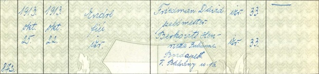 Robert Capa's birth entry