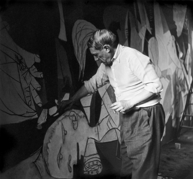 "Dora Maar. 'Picasso working on ""Guernica""' 1937"