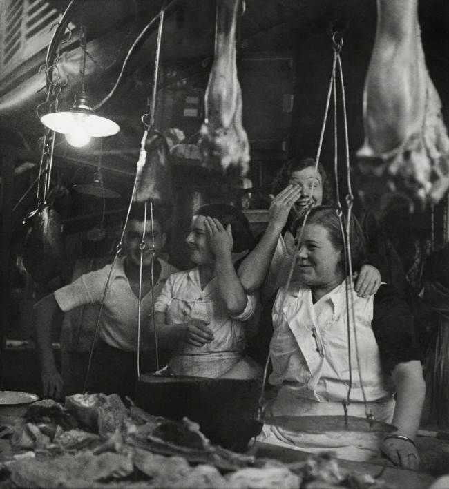 Dora Maar (French, 1907-1997) 'Barcelona, Saleswomen in the Butcher Shop' 1933