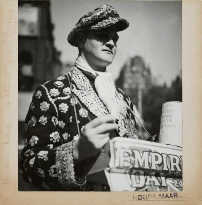 Dora Maar (French, 1907-1997) 'Pearly King collecting money for the Empire Day' 1935