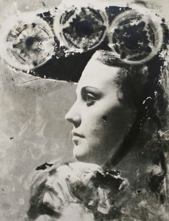 Dora Maar (French, 1907-1997) 'Profile portrait with glasses and hat' 1930-35