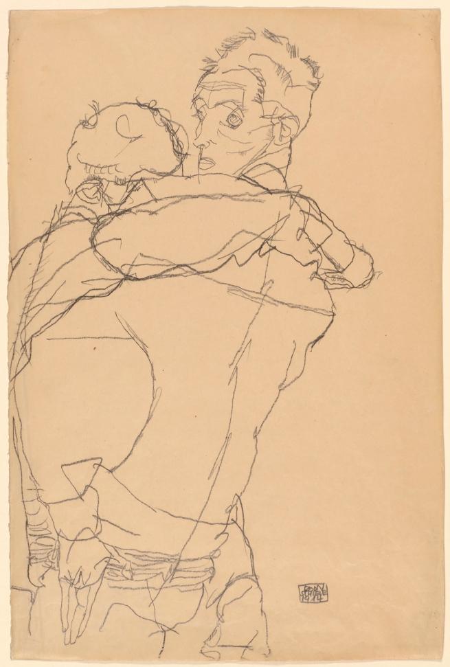 Egon Schiele (Austrian, 1890-1918) 'Embrace' 1914