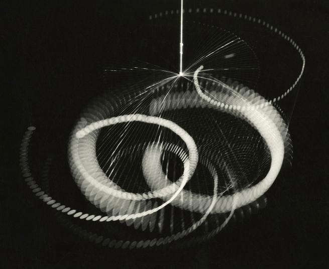 Herbert Matter (1907-1984) 'Alexander Calder hanging mobile in motion' 1936
