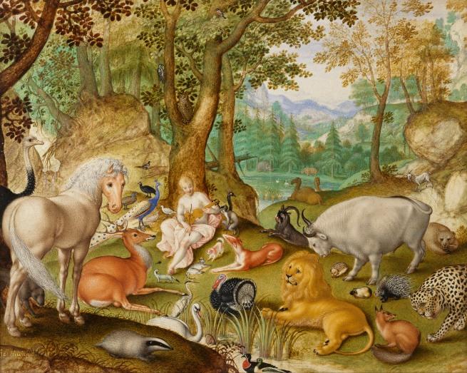Jacob Hoefnagel (1573? - c. 1632) 'Orpheus Charming the Animals' 1613