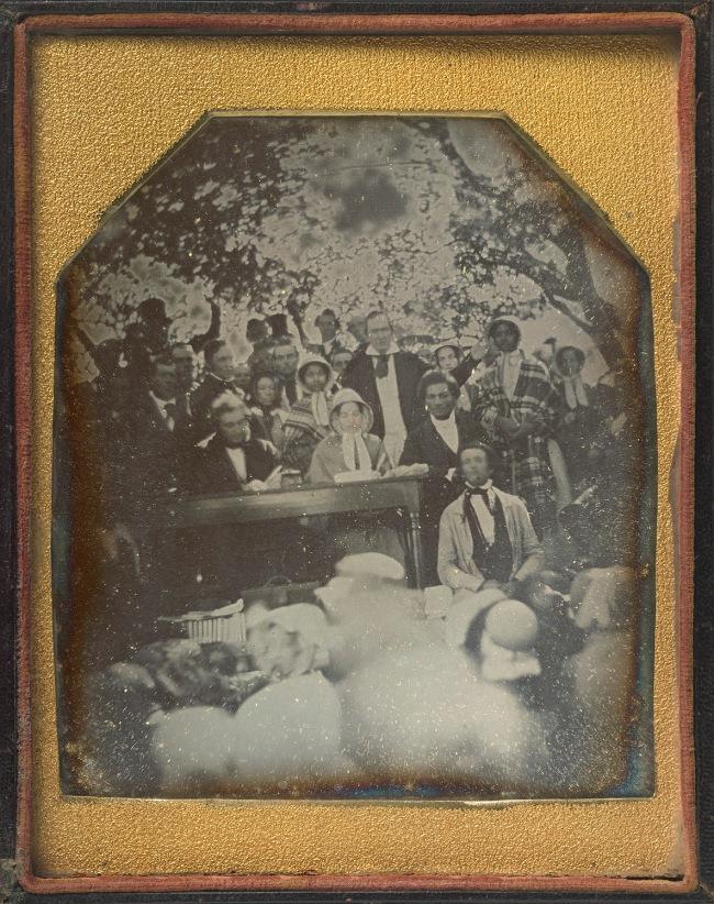 Ezra Greenleaf Weld. 'Frederick Douglass with the Edmonson Sisters at Fugitive Slave Law Convention, Cazenovia, New York' 1850