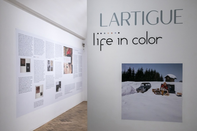 Installation view of the exhibition 'Lartigue: Life in Color' at the Robert Capa Contemporary Photography Center, Budapest