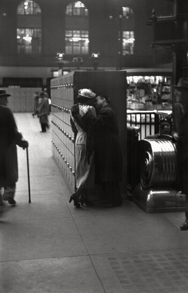 Louis Faurer (1916-2001) 'Penn Station Lovers' 1946-47, printed c. 1981