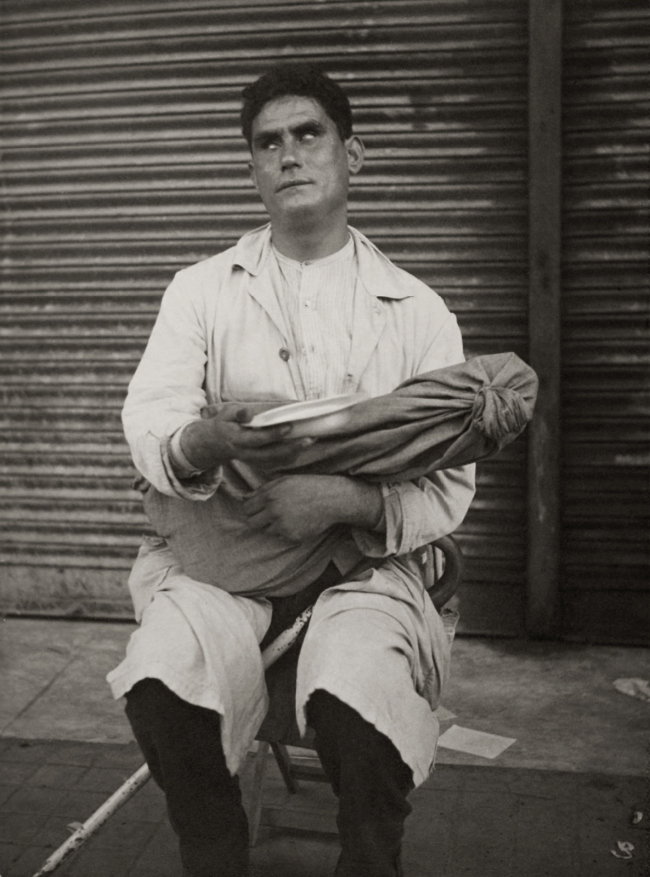 Dora Maar (French, 1907-1997) 'Blind Street Peddler, Barcelona' 1933