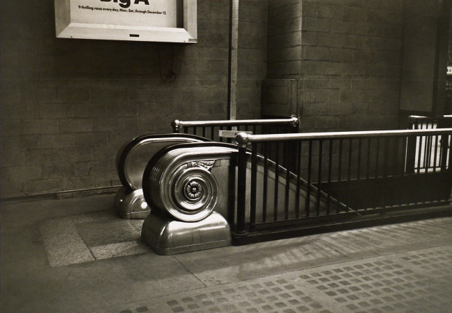 Duane Michals (American, b. 1932) 'Empty New York, Subway Interior' c. 1964
