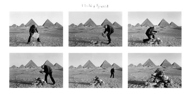 Duane Michals (American, b. 1932) 'I Build a Pyramid' 1978