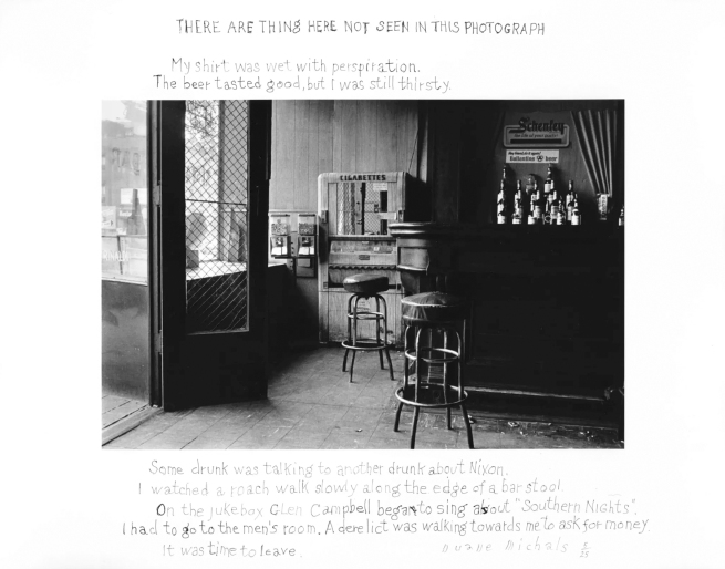 Duane Michals (American, b. 1932) 'There Are Things Here Not Seen in This Photograph' 1977