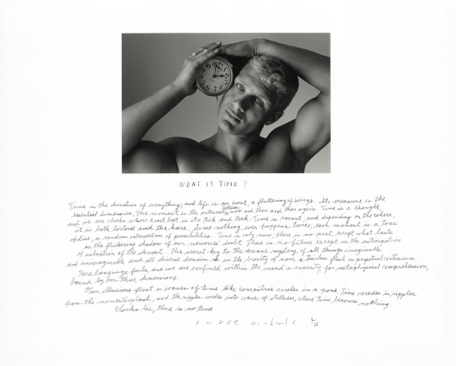 Duane Michals (American, b. 1932) 'What is Time?' 1994