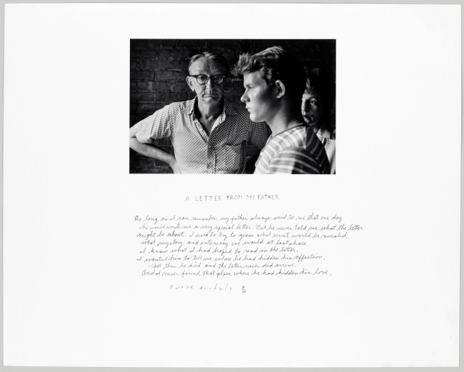 Duane Michals (American, b. 1932) 'A Letter from My Father' 1960
