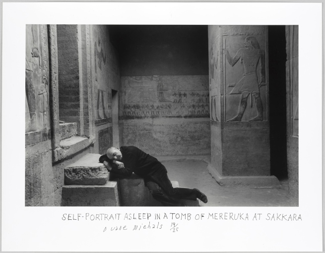 Duane Michals (American, b. 1932) 'Self-Portrait Asleep in a Tomb of Mereruka Sakkara' 1978