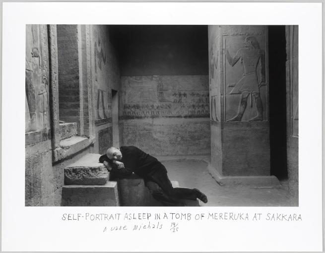 Duane Michals (American, b. 1932) 'Self-Portrait Asleep in a Tomb of Mereruka Sakkara' 1978