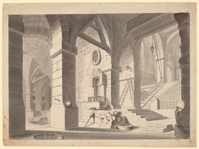 N. Institoris (d. 1845) 'Interior of a Prison' c. 1825-45