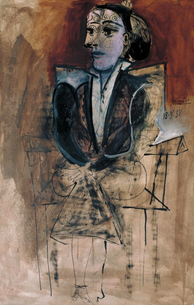 Pablo Picasso (Spanish, 1881-1973) 'Dora Maar seated' 1938