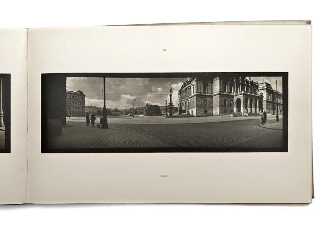 Josef Sudek. 'Praha panoramatická' book page, SNK LHU, 1959