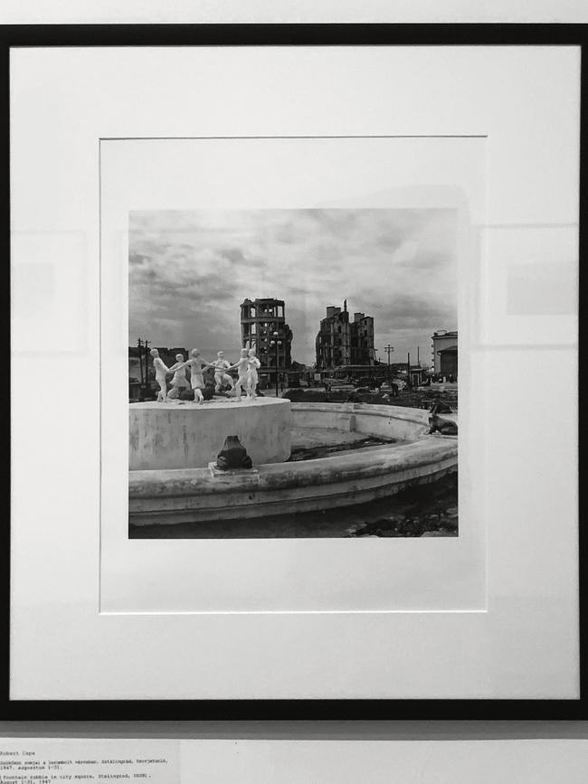 Robert Capa (American-Hungarian, 1913-1954) 'Fountain rubble in city square, Stalingrad, USSR' August 1-31, 1947