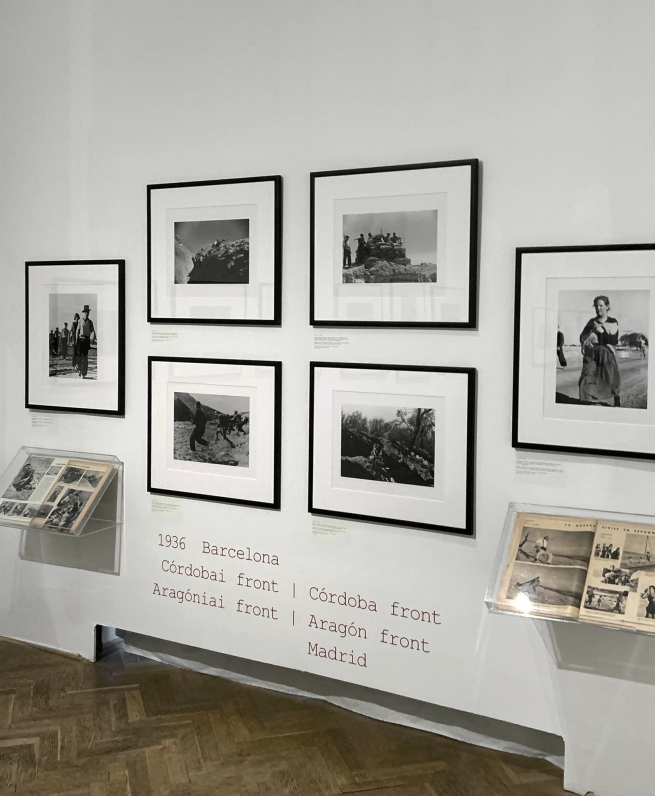 Installation view of the exhibition 'The Photojournalist Robert Capa II' at the Robert Capa Contemporary Photography Center, Budapest