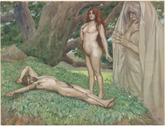 James Jacques Joseph Tissot (French, 1836-1902) 'God Creates Eve while Adam is Asleep' c. 1900-1902