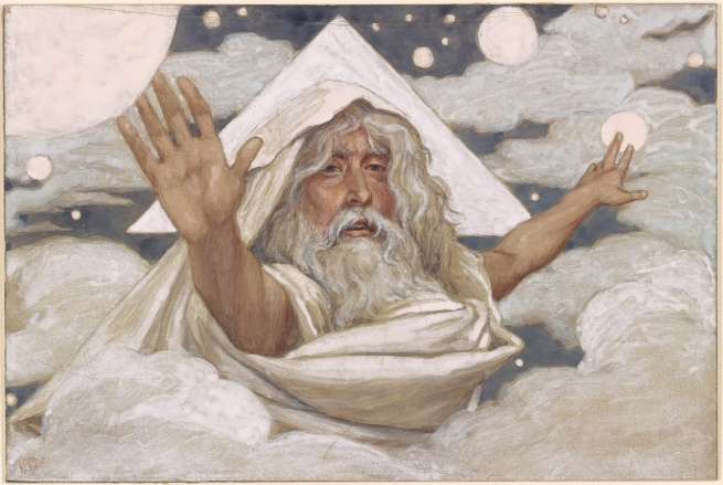 James Jacques Joseph Tissot (French, 1836-1902) 'God Creating the World' c. 1900-1902