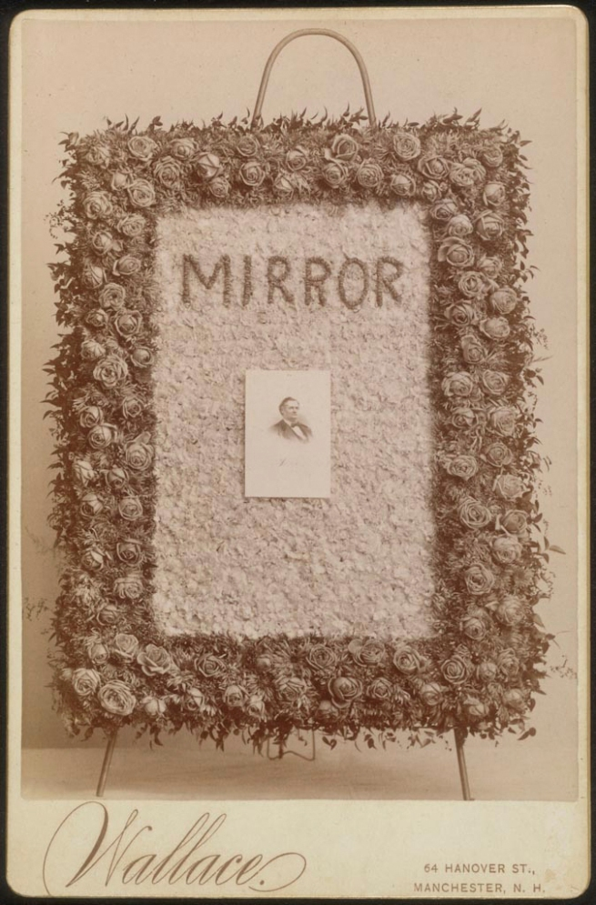 Wallace Studio, Manchester, New Hampshire. 'Untitled (Mirror)' c. 1880s
