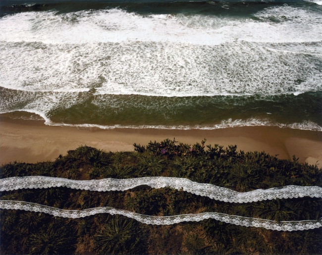 John Pfahl (American, b. 1939) 'Wave, Lave, Lace, Pescadero Beach, California' 1978