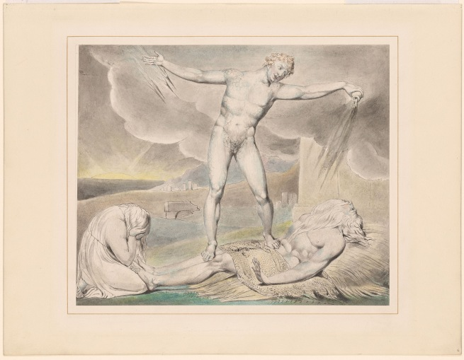 William Blake (British, 1757-1827) 'Satan Smiting Job with Boils' c. 1805-10