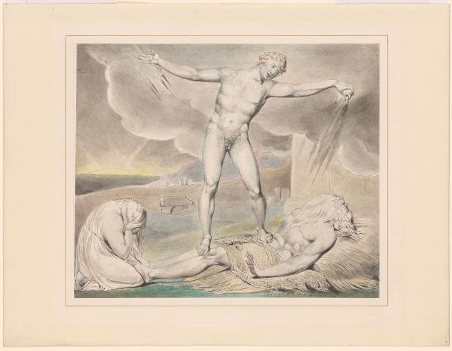 William Blake (British, 1757-1827) 'Satan Smiting Job with Boils' c. 1805-10
