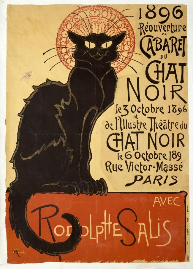 Théophile-Alexandre Steinlen Réouverture du cabaret du Chat Noir (Reopening of the Chat Noir Cabaret) 1896