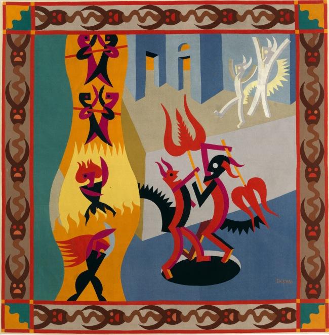Fortunato Depero Diavoletti neri e bianchi. Danza di diavoli (Black and White Little Devils: Dance of the Devils) 1922