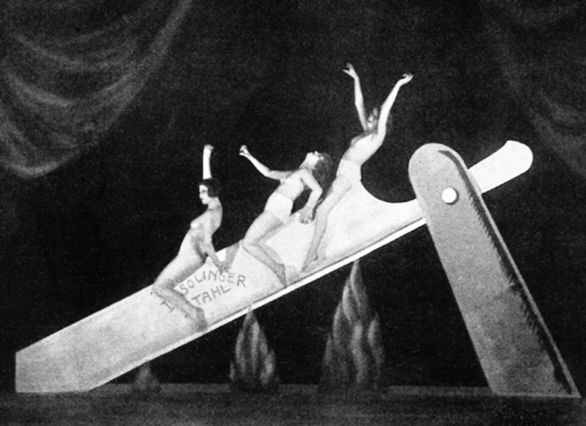 Unknown photographer 'Slide on the Razor', performance as part of the Haller Revue 'Under and Over', Berlin, 1923
