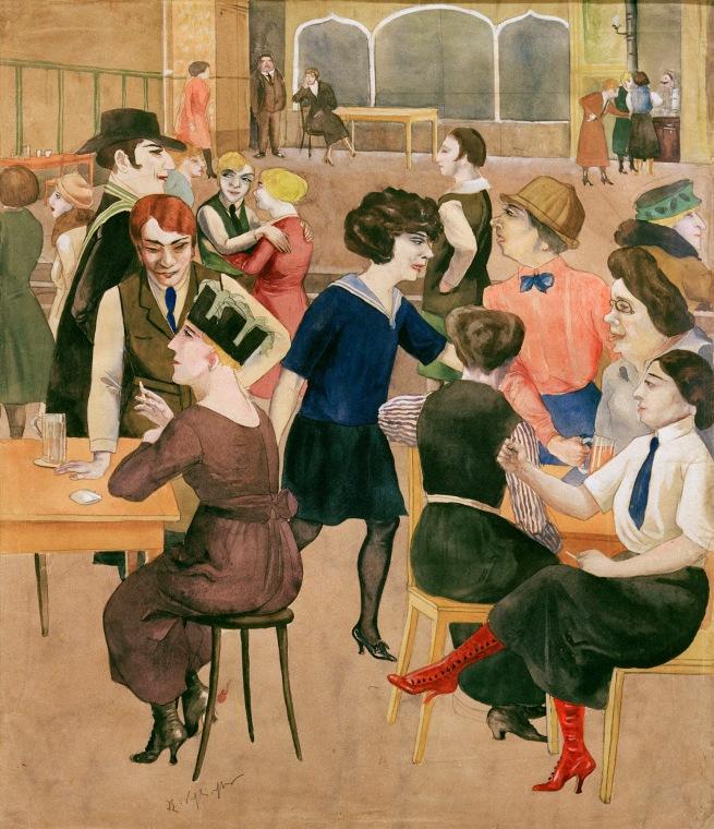 Rudolf Schlichter Damenkneipe (Women's Club) c. 1925