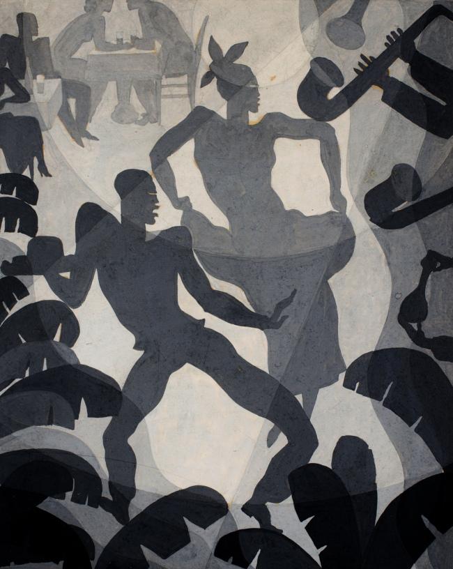 Aaron Douglas. 'Dance' c. 1930