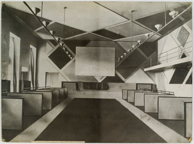 Theo van Doesburg The Ciné-bal (cinema-ballroom) at Café L'Aubette, Strasbourg, designed by Theo van Doesburg 1926-28