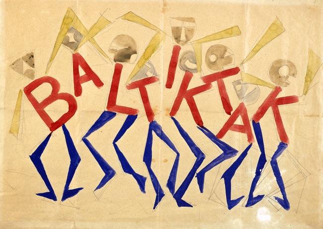 Giacomo Balla, Design for the sign and flashing light for the facade of the Bal Tic Tac, 1921