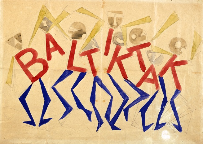 Giacomo Balla, Design for the sign and flashing light for the facade of the Bal Tic Tac, 1921