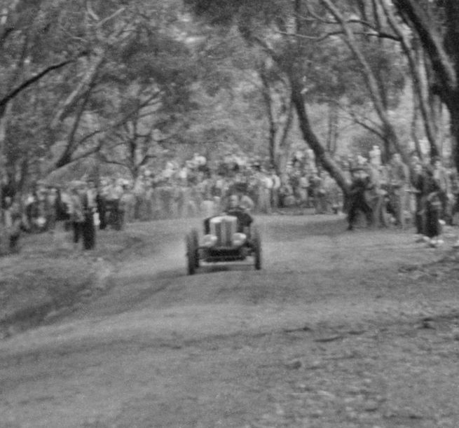 Unknown photographer (Australian) 'Untitled (hillclimb, possibly at Maldon, Victoria)' (detail) 1946-47