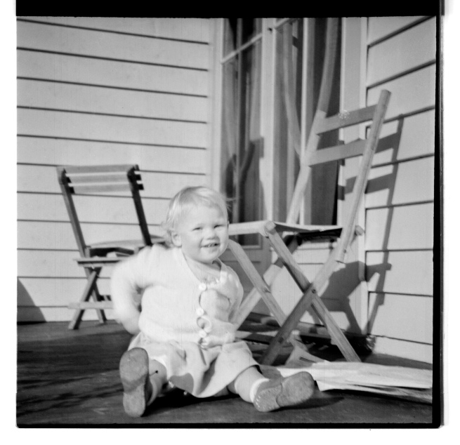 Unknown photographer (Australian) 'Untitled (child and chairs)' 1946-47