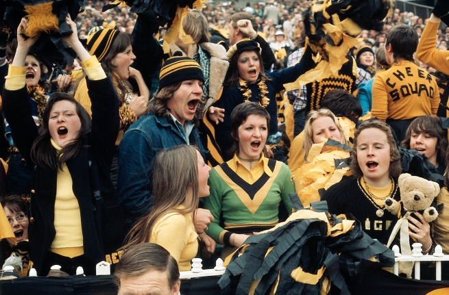 Rennie Ellis. 'Richmond fans, Grand Final, MCG' 1974