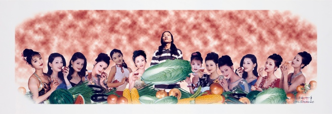 Wang Qingsong (Chinese, b. 1966) 'Last supper' 1997