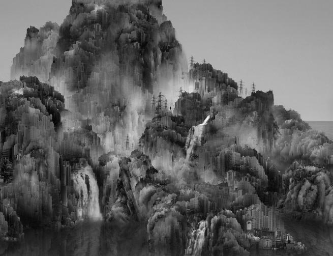 Yongliang Yang (Chinese, b. 1980) 'Eclipse' 2008 (detail)