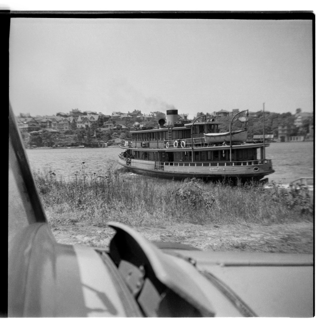 Unknown photographer (Australian) 'Untitled (Karrabee ferry, Sydney, leaving High St Wharf, Kurraba in the background)' 1946-47