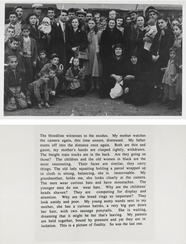 Elizabeth Gertsakis. 'Innocent reading for origin' 1987