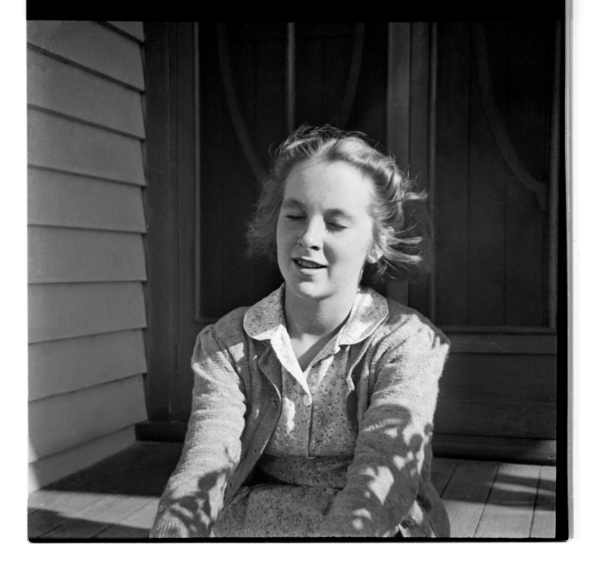 Unknown photographer (Australian) 'Untitled (girl on porch)' 1946-47